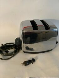 Vintage Sunbeam Model T-20 Radiant Control Automatic 2 Slice Toaster Non Working