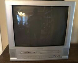 """24"""" Magnavox Crt Stereo-tv/dvd Mwc24t5a Retro Gaming With Remote Works Perfect"""