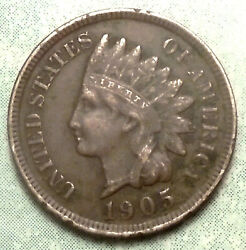 1905 Indian Head Penny Vf Very Fine Brown Full Liberty 1+ Diamond 81 Mill Store