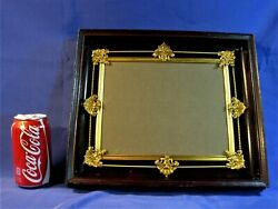 Picture Frame Shadow Box Antique Memorial Victorian Mourning Ormalu Accents Orig