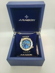 Aragon A081 Blue Sea Charger Automatic 200m Wrist Watch 50mm