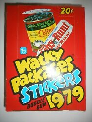 1979 Wacky Packages Stickers 1st Series Wax Box 36 Packs Topps