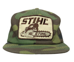 Stihl Chainsaws K Products Camo Mesh Snapback Trucker Hat Cap Vintage Usa Made