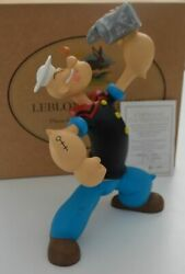 Extremely Rare Popeye Eating Spinach Leblon Delienne Figurine Le Of 999 Statue