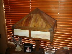 Large Art And Craft Copper Lamp 29tall-purchased Belaire House Sale 1975