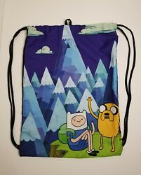 Adventure Time Finn And Jake Discontinued Drawstring Sack Backpack Gym Bag Cn
