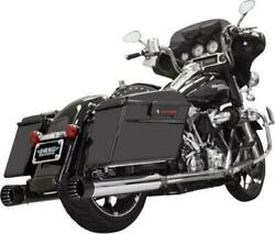Bassani 4 Dnt Straight Can Mufflers Chrome/black Outer 1f7dnt5 Harley Davidson