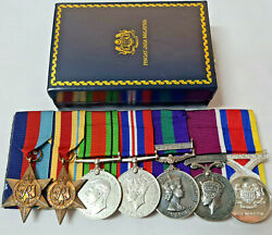 Ww2 And Malaya Medals 816970 Warrant Officer Whitham Royal Artillery Signals