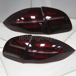 Dark Red Led Rear Lights For Porsche Cayenne Led Tail Lamps 2011-2014 Year Sn