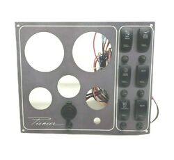 New Pioneer Boats 5 Gauge Dash / Console Switch Panel 12 X 10