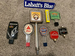 Lot Of 9 Beer Taps Coors, Bassand Co, Labbatts, And More . Nice Lot