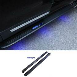 Black Aluminum Led Running Board Side Pedals Foot Pedal For Ford Explorer 11-19