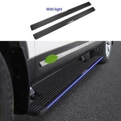 Black Aluminum Running Board Side Pedals Foot Pedal Led For Ford Explorer 11-19