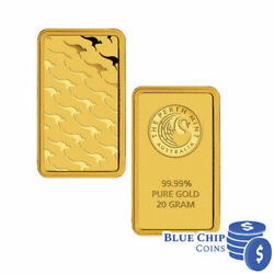 Perth Mint Kangaroo 20g Gold Minted Bar In Blister Pack