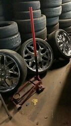 24 Inch Rims And Tires Chrome With New 275/25/24 N Front And 305/25/24 N Da Back