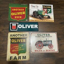 Lot Oliver Farms Tractors Agriculture And Farm Signs Authentic And Reproduction