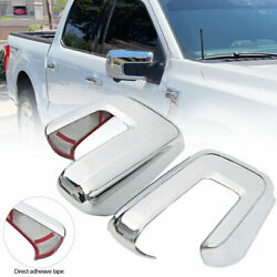 2pcs For Ford F150 F-150 2021-2022 Abs Chrome Rear View Side Mirror Cover Trim