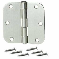 Primeline Products 55-4393 - 3.5 X 3.5 -5/8 R Butt Hinge Satin Finish 10 Pack