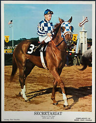 1972-73 Secretariat Promo Photo Horse Of The Year Bowie Race Course Issued