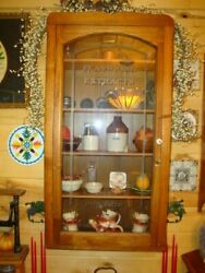 Antique Sauer's Flavoring Extracts Store Wall Display Case C.1900