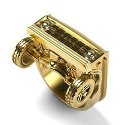 Ford Truck Ring Male Punk Party Gold Plated Menand039s Stainless Steel Rings Jewelry