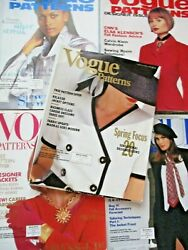 Lot Of 23 Vintage Vogue Patterns Magazines 1990 - 1994 Sewing Fashion History