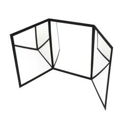 3 Way Practicing Mirror For Magic Tricks Stage Illusion Wizard Accessories
