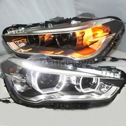 2016 Year Full Led Front Lamps For Bmw X1 Led Strip Angel Eyes Head Lights Ld