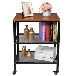 Utility Cart 3 Tier Microwave Oven Cart Bakers Rack Kitchen Storage Shelf Stand