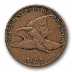 1857 Flying Eagle Cent Very Fine To Extra Fine Snow 9 S-9 Clashed With 50c 8422