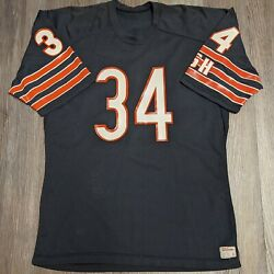 Vtg Walter Payton Chicago Bears Men's 48 Xl Wilson 1980's Authentic Home Jersey
