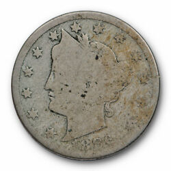 1886 Liberty Head Nickel About Good Ag Key Date Five Cent Coin 8529