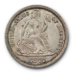 1877 Cc Seated Liberty Dime About Uncirculated To Mint State Carson City 8021