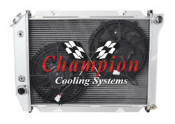 4 Row Supply Champion Radiator W/ 2 10 Fans For 1968 Ford Galaxie V8 Engine
