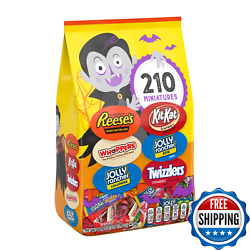 Hershey Chocolate Sweets Assortment Miniatures Candy Halloween Bag 210-pieces