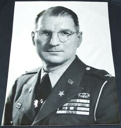 Original Post-ww2 Photo Of Id'd 82nd Airborne Division Paratrooper Officer