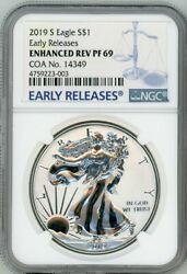 2019-s American Eagle Enhanced Reverse Silver Proof Ngc Pf69 Early Releases