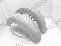 New Harley Davidson Elfl 1940and039s Model Front And Rear Mudguard Set