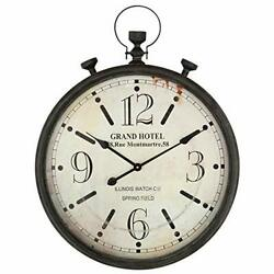 Large Pocket Watch Metal Wall Clock With Antique Frame For Kitchen Living Room