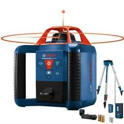 Bosch Grl1000-20hvk-rt-2 2x Self-leveling Rotary Laser Kit 1000and039 Recon