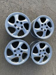 Porsche 17x 7.5 And 9 Turbo Twist Vintage Mille Miglia Cup 3 Wheels Like New