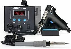 Esd Safe 2 In 1 80w Desoldering Station And 60w Soldering Iron Desoldering
