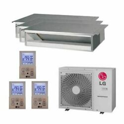 Lg Concealed Duct 3-zone Lgred Degrees Heat System - 24000 Btu Outdoor - 9k...