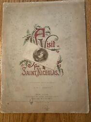 Rare Antique A Visit From Saint Nicholas 1862 Clement C. Moore F.o.c. Darby