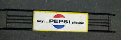 Vintage Say Pepsi Please Door Push Metal Sign Thank You Call Again 1940s