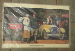 Nos Coca Cola Collectible Art Placemats Vintage Sign Set Of 4 Sealed 1924 Poster