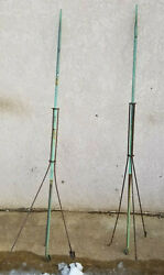 2 Antique Lightning Rod No Glass Ball Or Weather Vane Directional Arrow