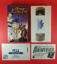 Fire Emblem Anime Vhs 1998 English Dubbed A.d.v. Films - With Inserts
