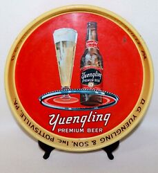 """D G Yuengling And Son Inc Premium Beer Metal Serving Tray 13"""" Diameter Vintage"""