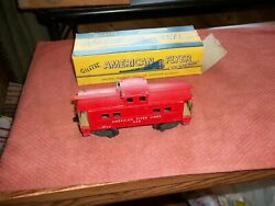 American Flyer Caboose 938 With Original Box 3/16 Scale Train Toy